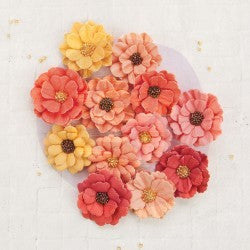 Prima Flowers- Guava - Shop and Crop Scrapbooking