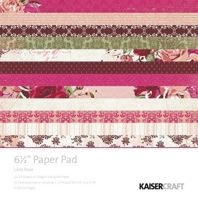 Lady Rose - Paper Pad 6.5x6.5 PP917 - Shop and Crop Scrapbooking