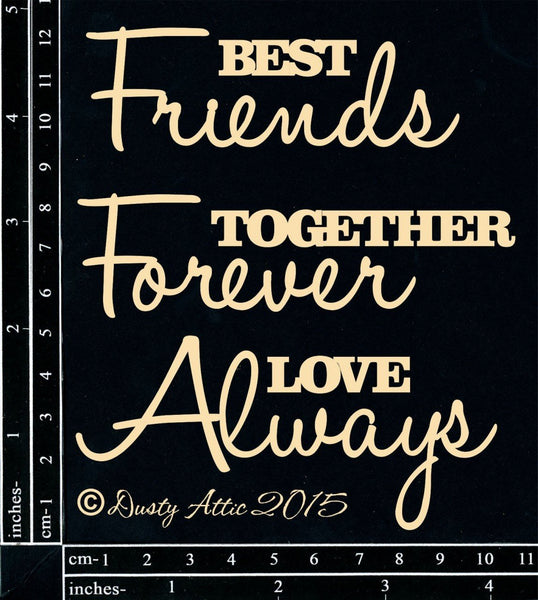 Best Friends Chipboard - Shop and Crop Scrapbooking