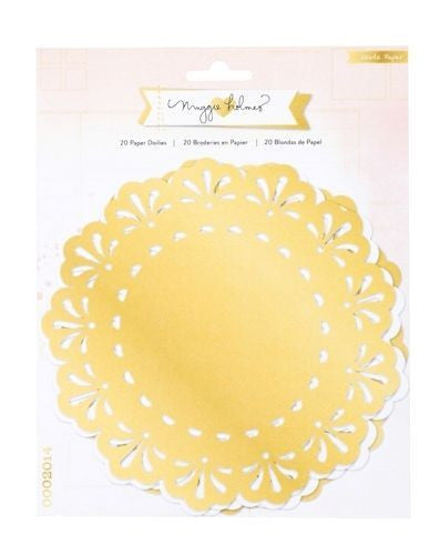 OPEN BOOK Maggie Holmes Doilies White and Gold - Shop and Crop Scrapbooking