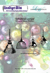 Indigoblu Industrial Lamps - Limor Webber Signature Range - A6 Red Rubber Stamp