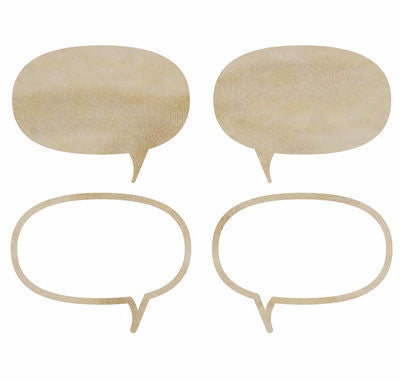Speech Bubbles Wood Flourishes - Shop and Crop Scrapbooking