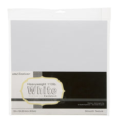 Coredinations - 12x12, 10 sheet white, smooth 110lb. - Basics