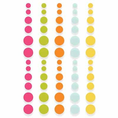 Sunshine and Happiness Enamel Dots - Shop and Crop Scrapbooking