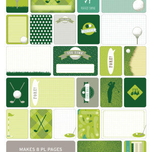Themed Cards - Golf 40Pk - Shop and Crop Scrapbooking
