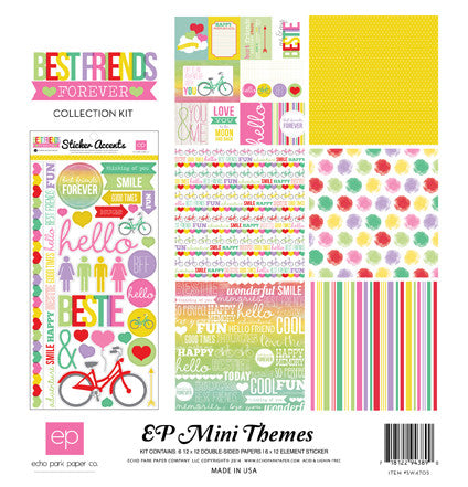 Echo Park Best Friends Forever Mini Collection Kit - Shop and Crop Scrapbooking