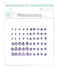 Rhinestones Light Purple pk60
