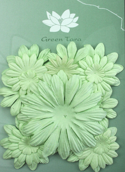 Petals Mixed Mint - Shop and Crop Scrapbooking