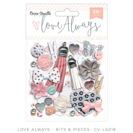 Cocoa Vanilla Studio - Love Always Bits and Pieces - Shop and Crop Scrapbooking