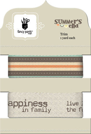 Fancy Pants Designs - Summer's End Collection - Ribbon Card - Shop and Crop Scrapbooking