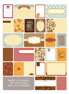 Themed Cards - Fall 60pk - Shop and Crop Scrapbooking