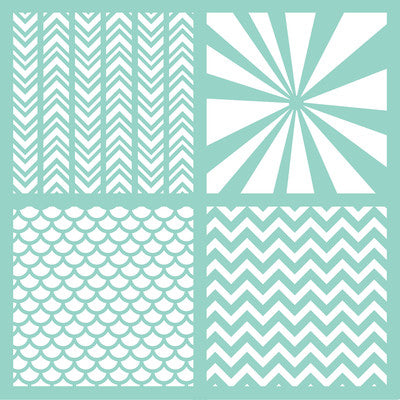 Kaisercraft Template 12x12-Geo Quarters - Shop and Crop Scrapbooking