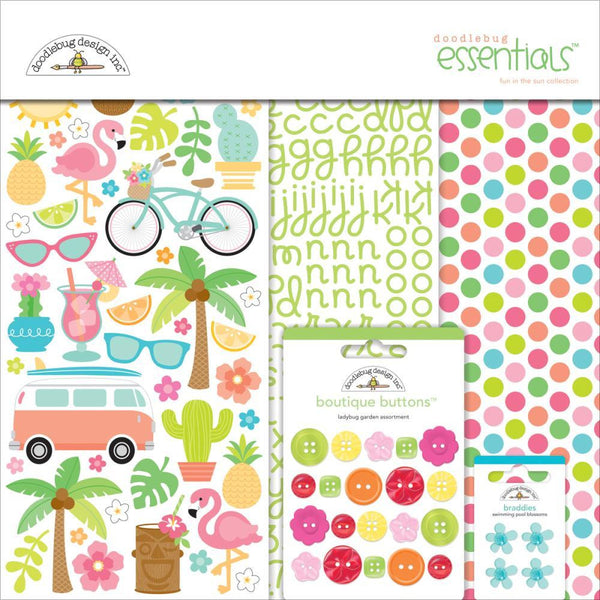 Doodlebug Essentials Page Kit - Fun In the Sun - Shop and Crop Scrapbooking