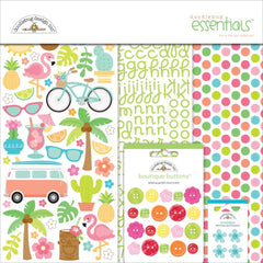 Doodlebug Essentials Page Kit - Fun In the Sun