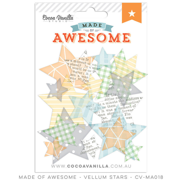 MADE OF AWESOME VELLUM STARS - Shop and Crop Scrapbooking