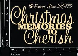 Dusty Attic Christmas Memories Chipboard - Shop and Crop Scrapbooking