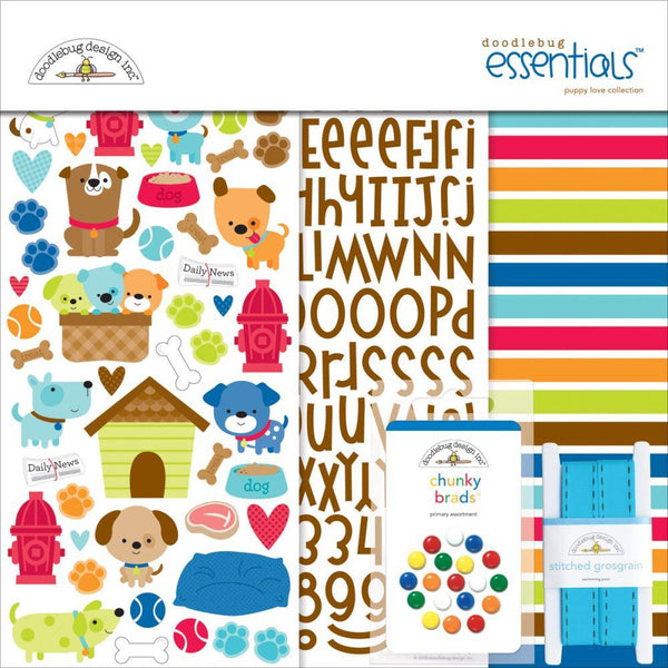 Doodlebug Essentials Page Kit - Puppy Love - Shop and Crop Scrapbooking