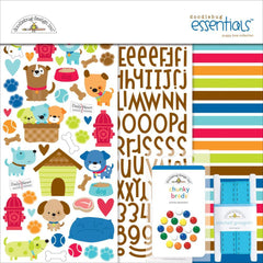 Doodlebug Essentials Page Kit - Puppy Love