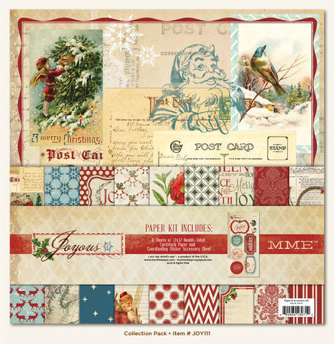 MME Joyous Paper and Accessories Kit - Shop and Crop Scrapbooking