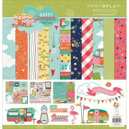 Happy Glamper Collection Pack - Shop and Crop Scrapbooking