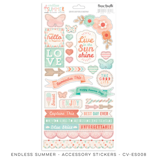 "Endless Summer ""Accessory Stickers"" - Shop and Crop Scrapbooking"