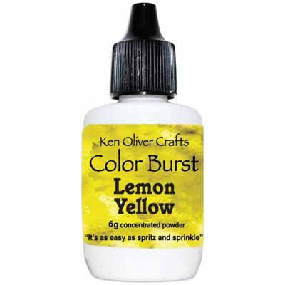 Color Burst Powder- Lemon Yellow - Shop and Crop Scrapbooking