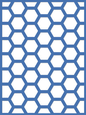 "Decorative Die 3x4"" Hexagon - Shop and Crop Scrapbooking"