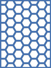 "Decorative Die 3x4"" Hexagon - DD551"