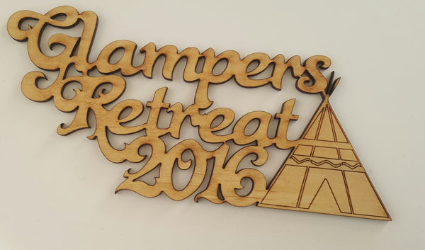 Glampers Retreat 2016 Title - Shop and Crop Scrapbooking