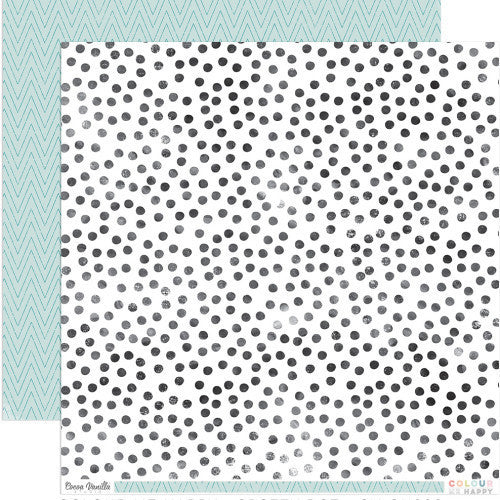 "Colour Me Happy ""Spotty Dot"" Double-Sided 12″x12″ designer paper - Shop and Crop Scrapbooking"