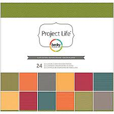 12x12 Slate Edition Designer Paper Pack 24pk - Shop and Crop Scrapbooking