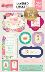Once Upon A Time Princess Layered Stickers - Foil