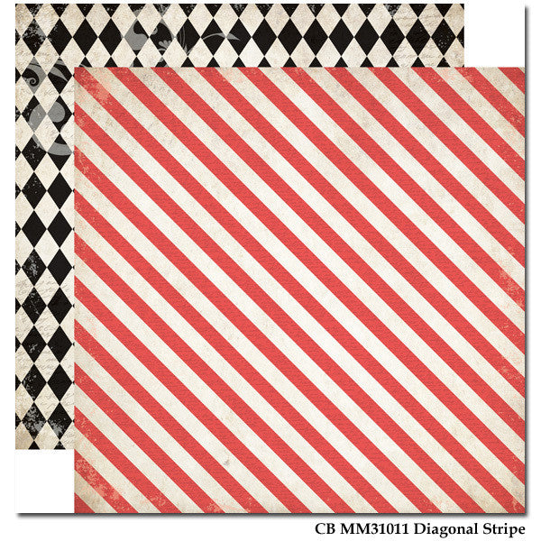 Carta Bella Diagonal stripe- Moments & Memories - Shop and Crop Scrapbooking