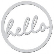 Hello circle - Shop and Crop Scrapbooking