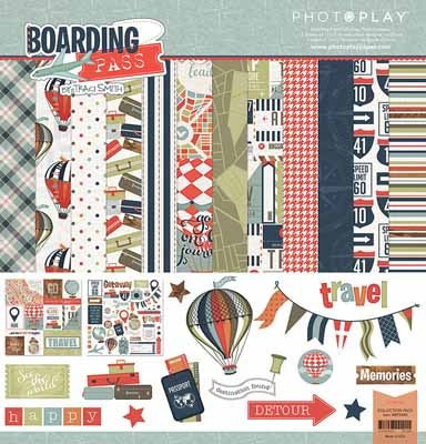 Photo Play -Boarding Pass Collection Pack and Ephemeras