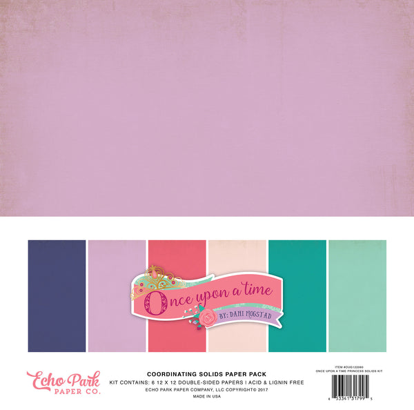 Echo Park Once Upon A Time Princess Solids Kit