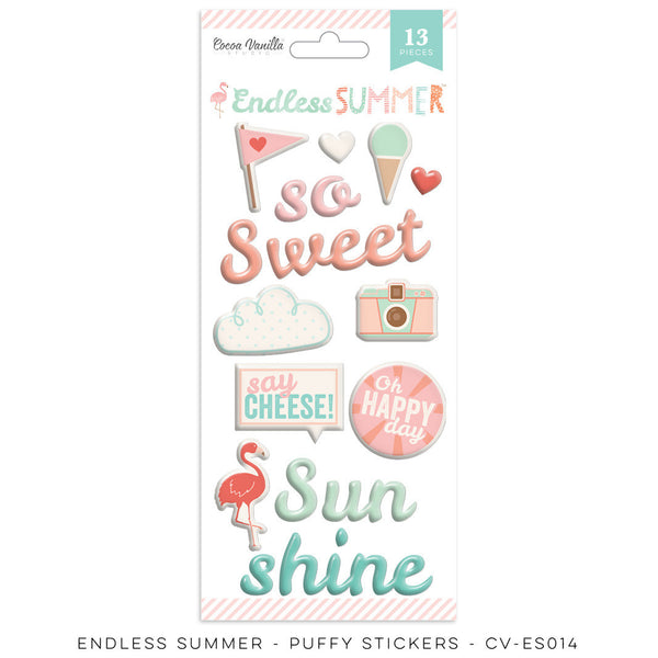 "Endless Summer ""Puffy Stickers"" - Shop and Crop Scrapbooking"
