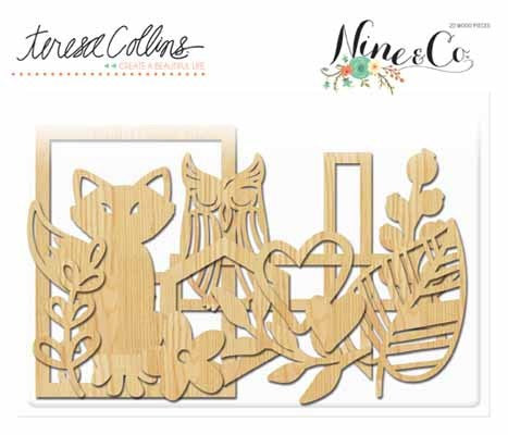 NINE AND CO. Teresa Collins Wood Die Cuts - Shop and Crop Scrapbooking