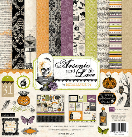 Echo Park Arsenic & Lace Collection Kit - Shop and Crop Scrapbooking