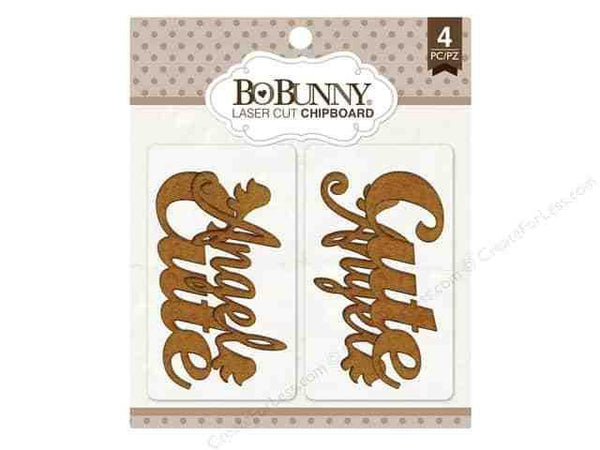 Bo Bunny Laser Cut Chipboard Cute, Angel - Shop and Crop Scrapbooking