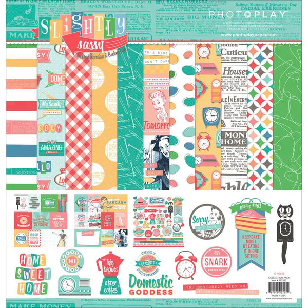 "Photo Play Slightly Sassy Collection Pack 12""X12"" - Shop and Crop Scrapbooking"