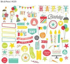 Lets Party Bits and Pieces - Shop and Crop Scrapbooking