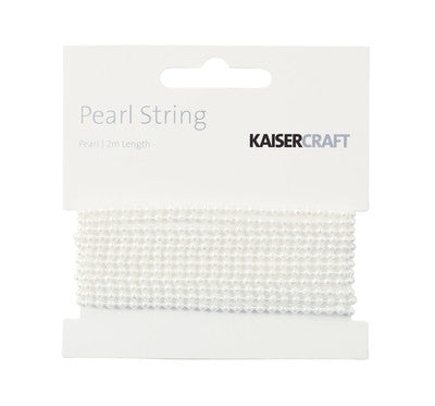 Kaisercraft Pearl Pearl String 2m - Shop and Crop Scrapbooking