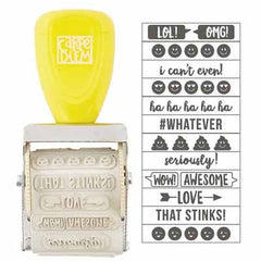 Simple Stories - Carpe Diem - Emoji Love Collection - Roller Stamp