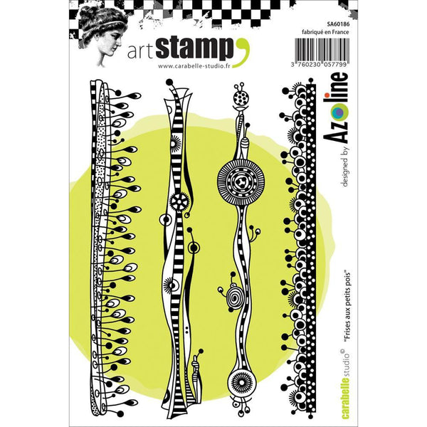 Carabelle Studio Peas Strip A6 Cling Stamp - Shop and Crop Scrapbooking