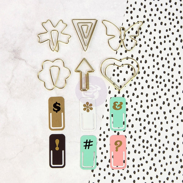 My Prima Planner Embellishments - Variety Paper Clips - Shop and Crop Scrapbooking