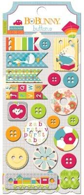Bo Bunny Toy Box Buttons - Shop and Crop Scrapbooking
