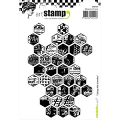 Carabelle Studio Honeycomb Collage Cling Stamp A6