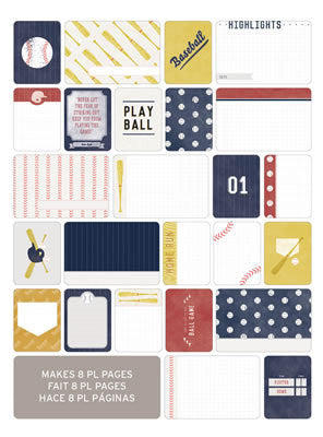 Themed Cards - Baseball 40pk - Shop and Crop Scrapbooking