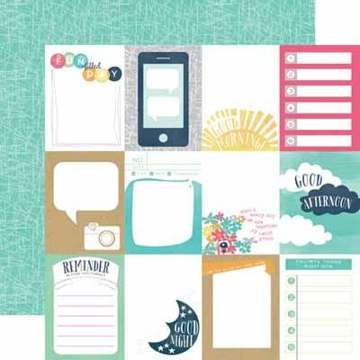 3X4 Journaling Cards Paper- Creative Agenda - Shop and Crop Scrapbooking
